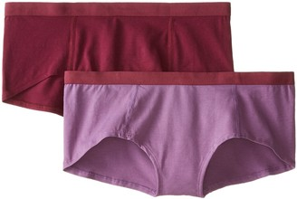 Pact Women's Organic Cotton Boy Short 2-Pack