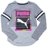 Puma Girls 4-6x Two-Tone High-Low Tee