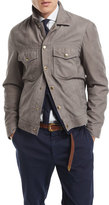 Brunello Cucinelli Suede Denim-Style Jacket