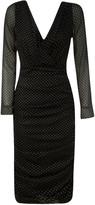 Dolce & Gabbana V-neck Polka Dot Print Dress