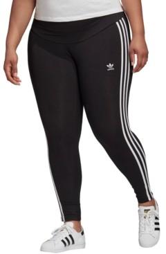 adidas Plus Size 3 Stripe Leggings