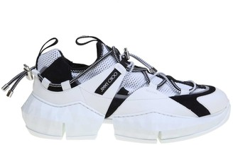 Jimmy Choo Sneakers Diamond Trail / M In Stretch Fabric Color White