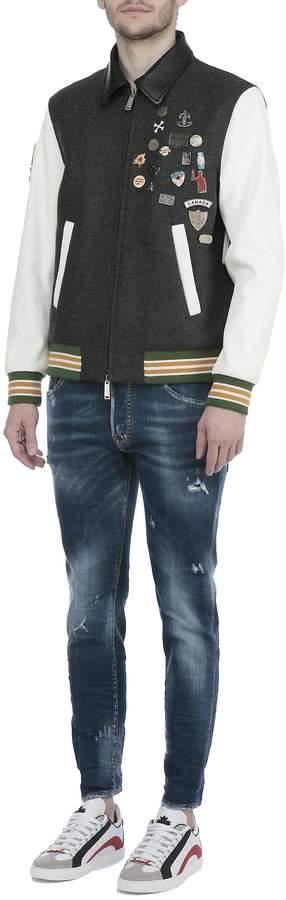 DSQUARED2 Wool Bomber Jacket