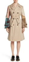 Junya Watanabe Women's Patterned Sleeve Trench Coat