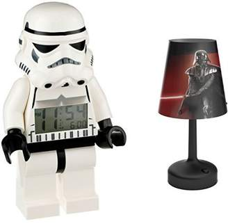 LEGO Star Wars Storm Trooper Minifigure Clock with Star Wars Darth Vader Portable LED Bedside and Table Lamp
