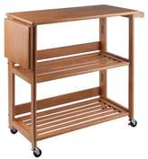 Household Essentials Winsome Foldable Cart Wood/Light Oak