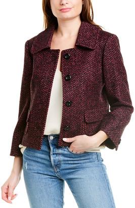 Michael Kors Wool, Silk, & Baby Llama-Blend Jacket