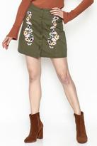 En Creme Floral Mini Skirt
