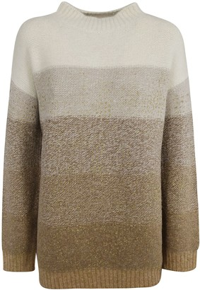 Fabiana Filippi Round Neck Fade Color Jumper