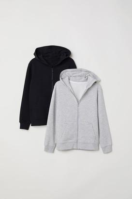 H&M 2-pack Hooded Sweatshirts - Gray