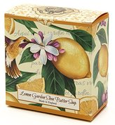 Lemon Citrus, Luxury Round, Beautifully Scented Shea Butter Soap Bar, Made in England, Triple Milled. Environmentally Friendly (Green). 3.5oz.