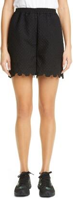 Cecilie Bahnsen Kim Floral Scalloped Shorts