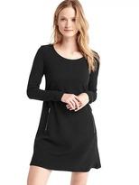 Gap A-line zip long sleeve dress