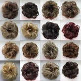 PRETTYSHOP Scrunchie Bun Up Do Hair piece Hair Ribbon Ponytail Extensions Wavy Curly or Messy Various Colors(bleach blonde 25T613)