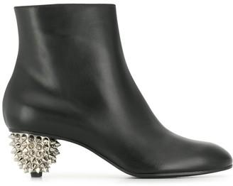 Alexander McQueen spiked heel ankle boots