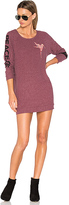 Lauren Moshi Bel Long Sleeve Pullover Sweatshirt Dress in Pink. - size M (also in S)