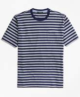 Brooks Brothers Supima® Cotton Bar Stripe Pocket Tee Shirt