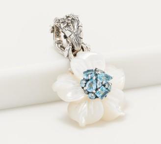 Stephen Dweck Sterling Silver & Gemstone Flower Enhancer
