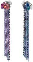 Swarovski Haute Couture Clip Earrings, Multi-colored, Ruthenium plating