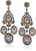 Miguel Ases Cat's Eye Chandelier Drop Earrings