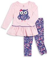 Kids Headquarters Girls 2-6x Owl Tunic and Leggings Set