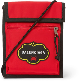 Balenciaga Explorer Logo-Appliqued Canvas Messenger Bag - Men - Red