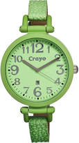 Crayo Womens Balloon Mint Leather-Band Watch With Date Cracr0603