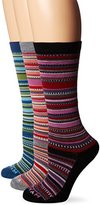 Wigwam Women's Miley Merino Wool Casual Crew Boot Sock 3-Pack