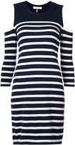 Trina Turk cold shoulder stripe dress - women - Cotton - S