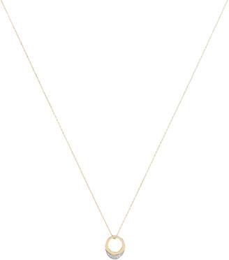 Adina Super Tiny Pave Petal Necklace