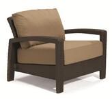evo Deep Seating Patio Chair with Cushions Tropitone Frame Color: Kaffee Basket Weave, Cushion Color: Cascade