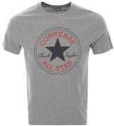 Converse Logo Crew Neck T Shirt Grey