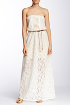 Trixxi Crochet Waist Tie Maxi Dress (Juniors)