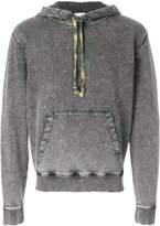 Saint Laurent stonewashed drawstring hoodie