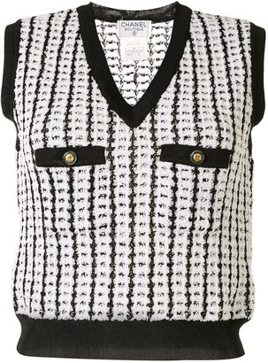 Chanel Pre Owned 1997 Boucle Knitted Vest