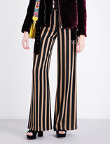 Etro Striped wide-leg woven trousers
