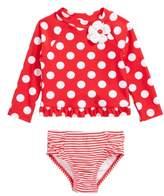 Little Me Big Dot Two-Piece Rashguard Swimsuit