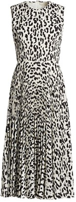 Jason Wu Collection Snow Leopard-Print Sleeveless Crepe Dress