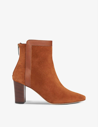 LK Bennett Abbey suede heeled ankle boots
