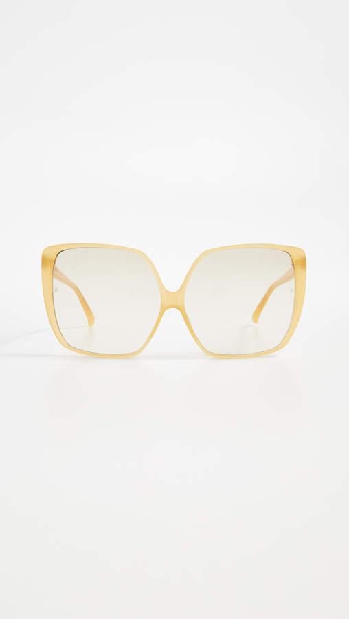 Linda Farrow Luxe Oversized Square Sunglasses