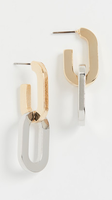 Kenneth Jay Lane Double Link Drop Earrings