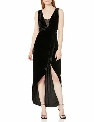 BCBGMAXAZRIA Azria Women's Ria Woven Crushed Velvet Asymmetrical Dress