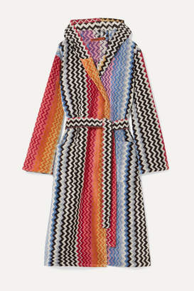 Missoni Home Stan Hooded Cotton-terry Robe - Pink