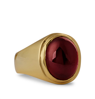 Maple Tommy Gold-Plated Garnet Ring