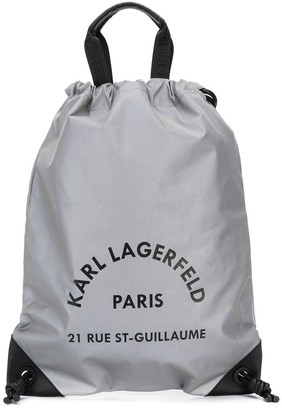 Karl Lagerfeld Paris Rue St Guillaume drawstring backpack