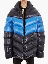 Raf Simons Blue Oversized Down Jacket