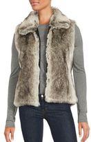 Saks Fifth Avenue Sleeveless Faux Fur Zip-Up Vest