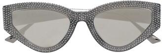 Christian Dior Crystal Detail Cat Eye Sunglasses