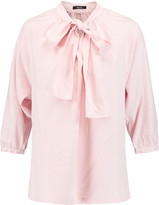 Raoul Fiorella pussy-bow washed-silk blouse
