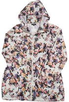 Brave Soul Womens Hooded Mac Cream Floral